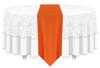 Solid Polyester Table Runner Linen-Pumpkin