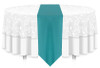 Solid Polyester Table Runner Linen-Turquoise