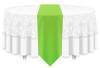 Solid Polyester Table Runner Linen-Neon Green