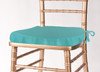 Solid Polyester Seat Cushion Cover-TIffany Blue