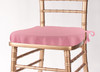 Solid Polyester Seat Cushion Cover-Pink