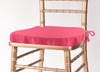 Solid Polyester Seat Cushion Cover-Fuchsia