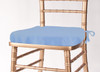 Solid Polyester Seat Cushion Cover-Powder Blue