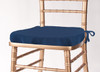 Solid Polyester Seat Cushion Cover-Dark Blue