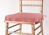 Solid Polyester Seat Cushion Cover-Dusty Rose
