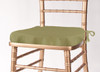 Solid Polyester Seat Cushion Cover-Light Olive