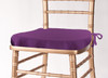 Solid Polyester Seat Cushion Cover-Plum
