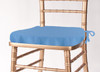 Solid Polyester Seat Cushion Cover-Cornflower