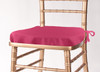 Solid Polyester Seat Cushion Cover-Hot Pink