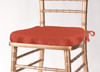 Solid Polyester Seat Cushion Cover-Burnt Orange