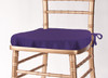 Solid Polyester Seat Cushion Cover-Purple