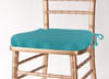 Solid Polyester Seat Cushion Cover-Turquoise