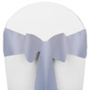 Solid Polyester Chair Sash-Light Blue