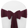 Solid Polyester Chair Sash-Aubergine