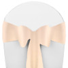 Solid Polyester Chair Sash-Ivory