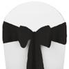 Solid Polyester Chair Sash-Black