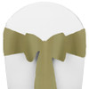 Solid Polyester Chair Sash-Light Olive