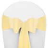 Solid Polyester Chair Sash-Maize