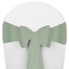 Solid Polyester Chair Sash-Seafoam