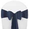 Solid Polyester Chair Sash-Navy