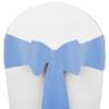 Solid Polyester Chair Sash-Powder Blue