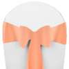 Solid Polyester Chair Sash-Peach