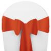Solid Polyester Chair Sash-Orange