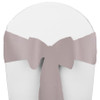 Solid Polyester Chair Sash-Silver