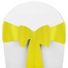 Solid Polyester Chair Sash-Neon Yellow