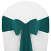 Solid Polyester Chair Sash-Teal