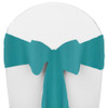 Solid Polyester Chair Sash-Turquoise