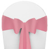 Solid Polyester Chair Sash-Pink