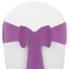 Solid Polyester Chair Sash-Violet