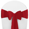 Solid Polyester Chair Sash-Red