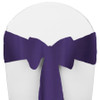 Solid Polyester Chair Sash-Purple