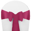 Solid Polyester Chair Sash-Raspberry