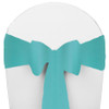 Solid Polyester Chair Sash-Tiffany Blue