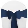 Solid Polyester Chair Sash-Dark Blue