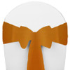 Solid Polyester Chair Sash-Golden Rod