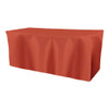 Solid Polyester Fitted Table Box Linen-Burnt Orange