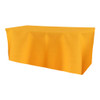 Solid Polyester Fitted Table Box Linen-Sunflower