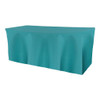 Solid Polyester Fitted Table Box Linen-Turquoise
