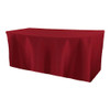 Solid Polyester Fitted Table Box Linen