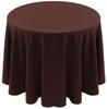 Spun Polyester Tablecloth Linen-Brown