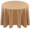 Spun Polyester Tablecloth Linen-Camel