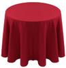 Spun Polyester Tablecloth Linen-Cherry Red