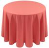 Spun Polyester Tablecloth Linen-Coral