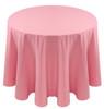 Spun Polyester Tablecloth Linen-Pink