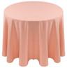 Spun Polyester Tablecloth Linen-Peach
