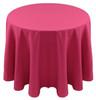 Spun Polyester Tablecloth Linen-Hot Pink